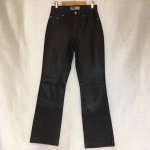 Old Navy Genuine Leather Black Jeans Sz1